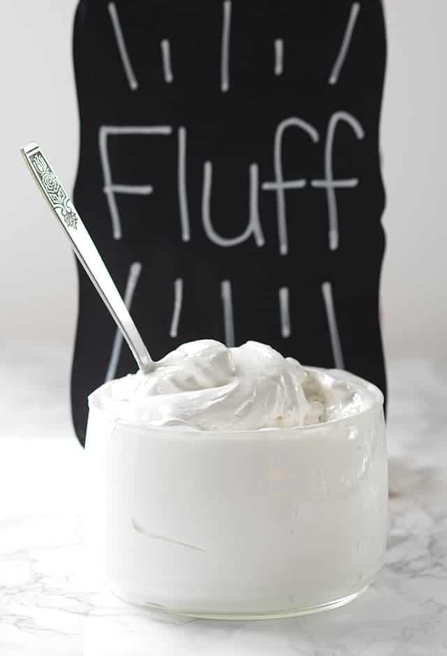 dish of Homemade Marshmallow Fluff