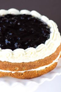 Grandma's Cherry Torte with Whipped Cream