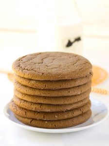 Molasses Cookies - spiced molasses cookies that are soft and have a crinkled top.