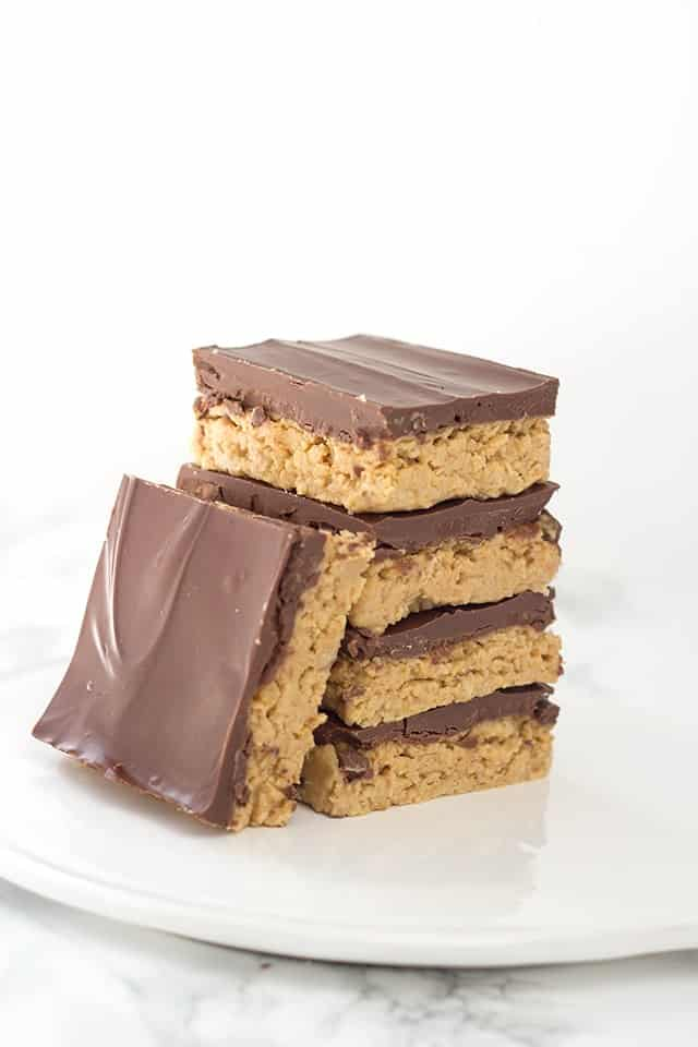 No Bake Peanut Butter Potato Chip Bars Cookie Dough And