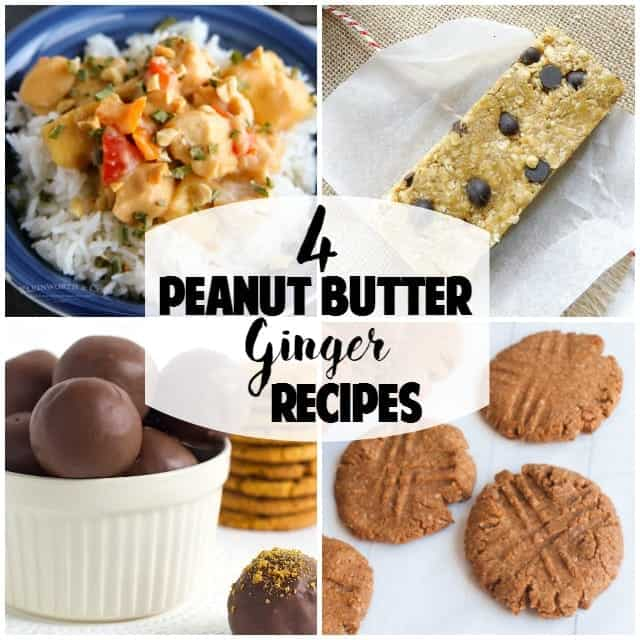 4 Tasty Peanut Butter Ginger Recipes - Spice up your peanut butter recipes with a little ginger!