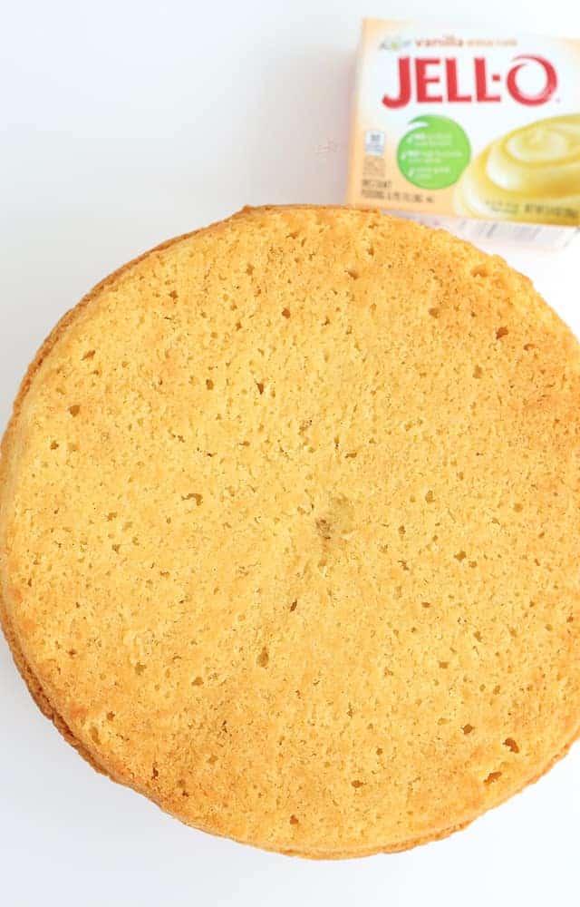 vanilla pound cake made with JELL-O vanilla pudding