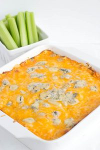 bowl of Buffalo chicken dip