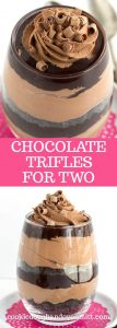 pinterest long collage of chocolate trifles for two