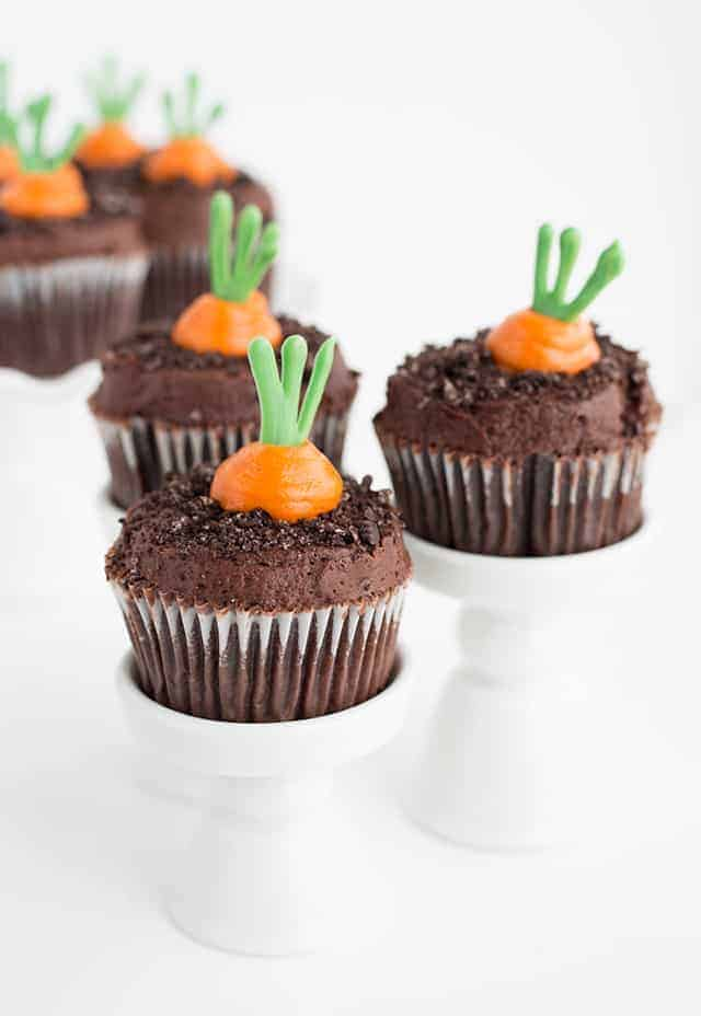 Carrot Patch Cupcakes - Cookie Dough and Oven Mitt