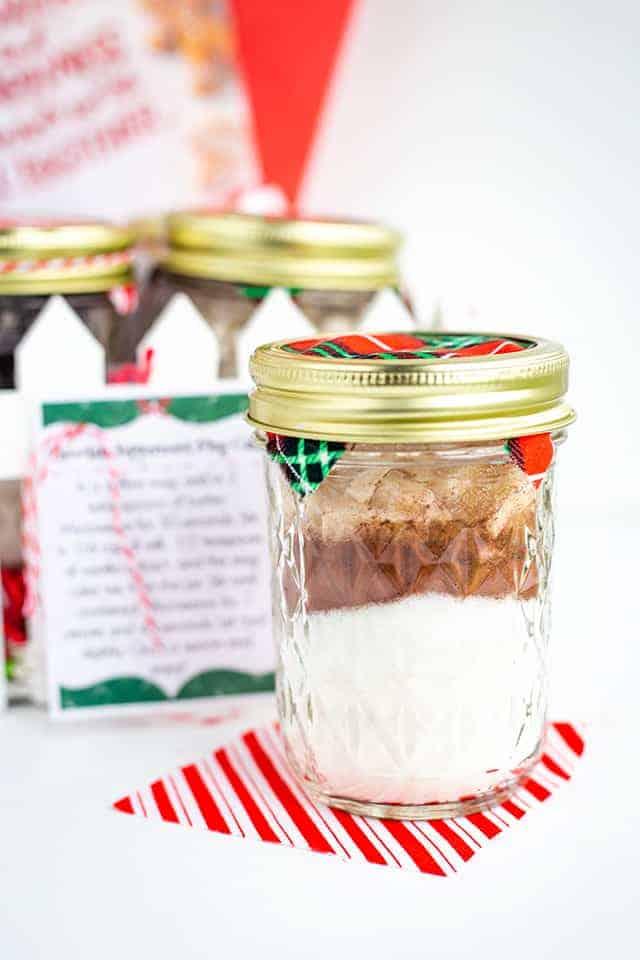 4 Mug Cake Mixes In A Jar - Cookie Dough and Oven Mitt