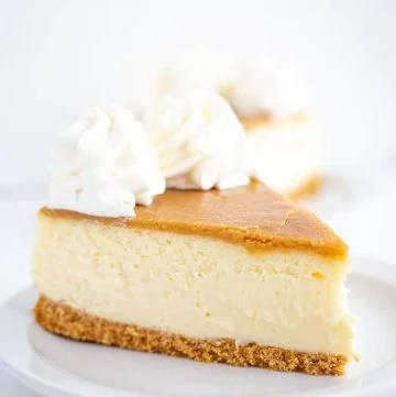 slice of butter rum cheesecake