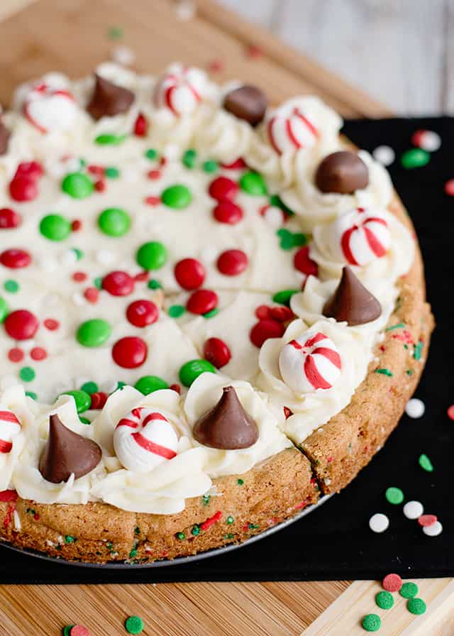 Christmas Sugar Cookie Cake Cookie Dough And Oven Mitt