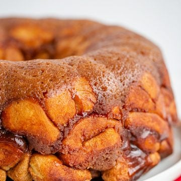monkey bread on white plate