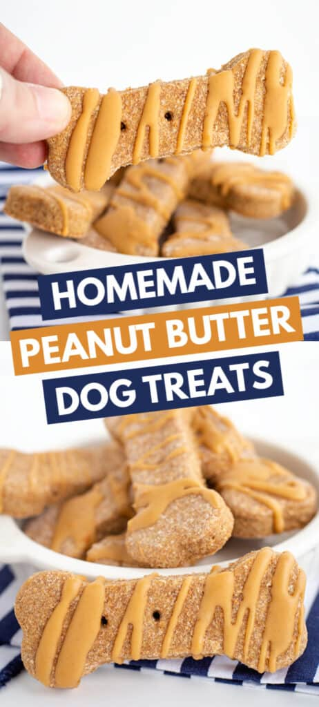 collage of two photos of dog treats with block text