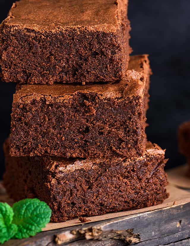 stack of brownies