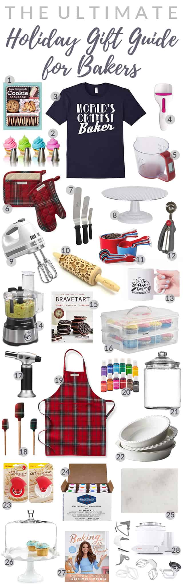 collage of the best gifts for bakers