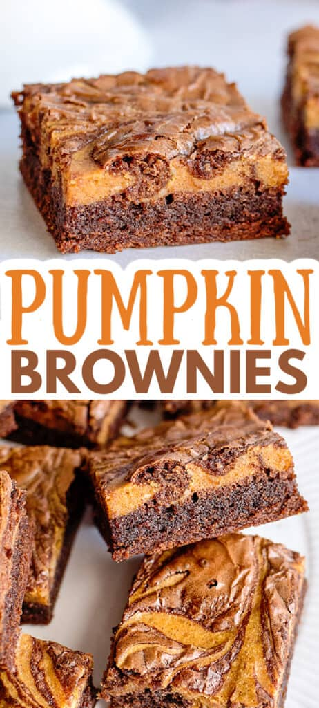 collage of images for pinterest close up photos of the inside of the brownies with text