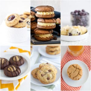 photo collage of cookies from Cookie Dough and Oven Mitt