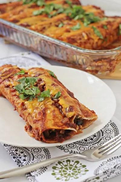 Black Veggie Enchiladas Bean And