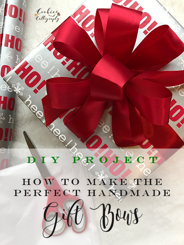 Diy How To Make The Perfect Handmade Gift Bow Cookies