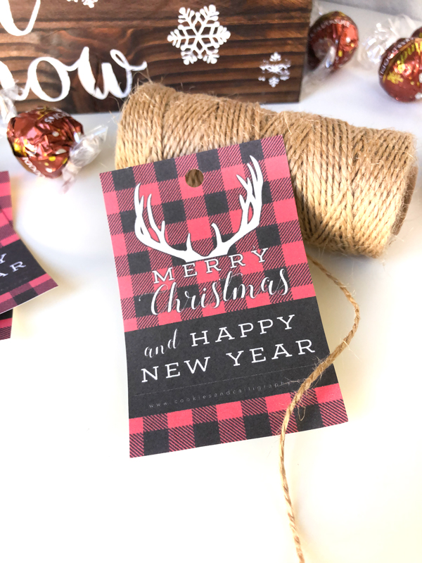 photograph regarding Merry Christmas Printable named Do it yourself Cost-free Printable Merry Xmas Plaid Present Tags Cookies