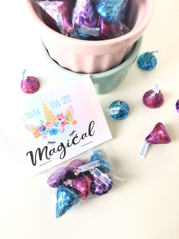 photo relating to Free Printable Unicorn Valentines identified as Do-it-yourself \u201cI Consider On your own Are Magical\u201d Unicorn Valentines + Cost-free