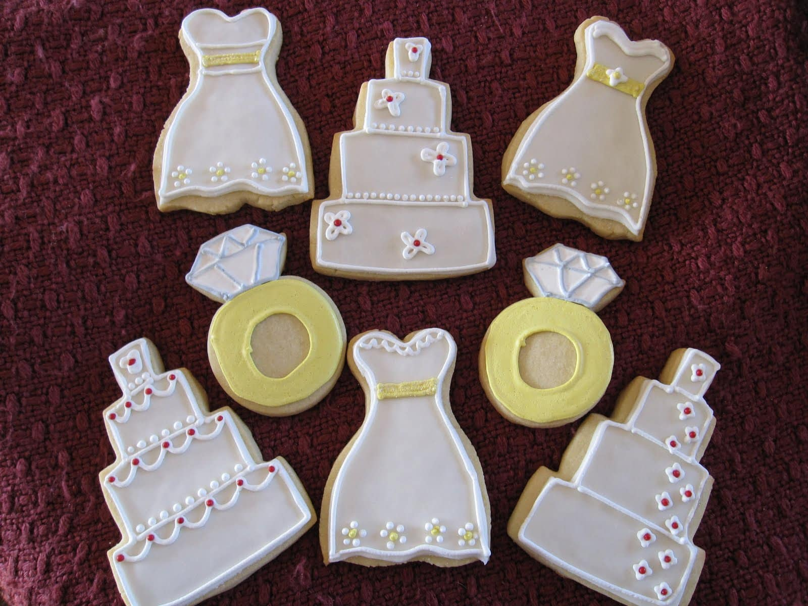 Wedding Shower Cookies And Marshmallow Fondant