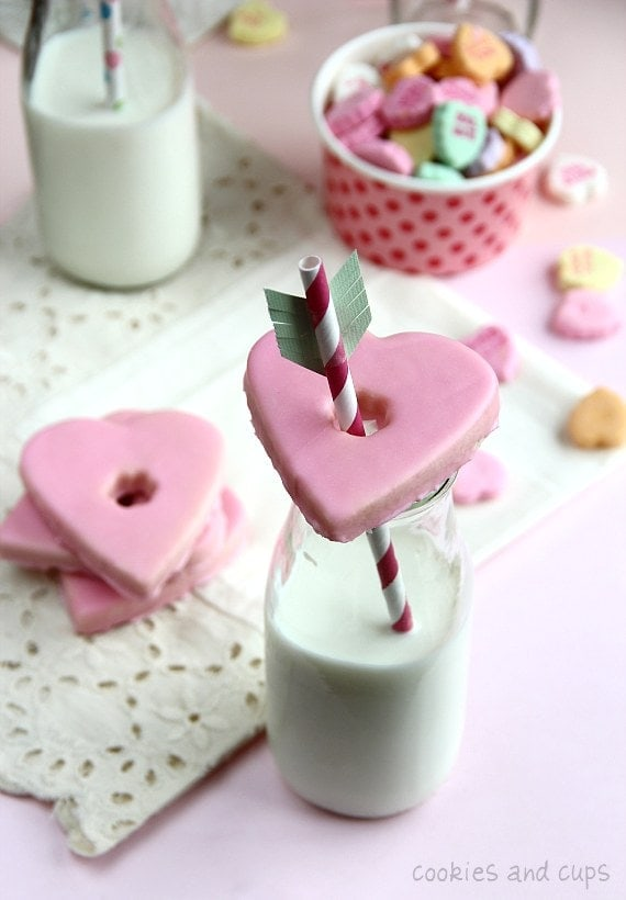 Glass Topper Valentines Cookies & a Party! - Cookies and Cups