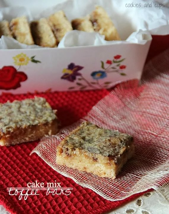 Sand Art Cake Mix : Cake Mix Toffee Bars