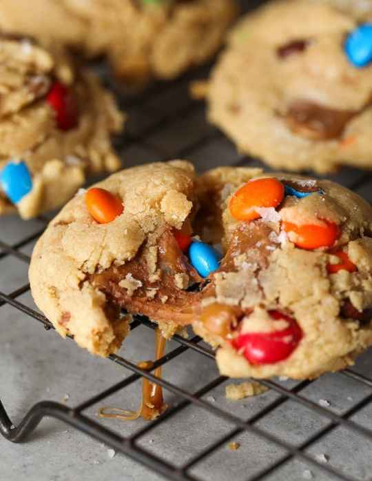 Movie Candy Cookies! These are big, thick cookies loaded with all your favorite movie candies!