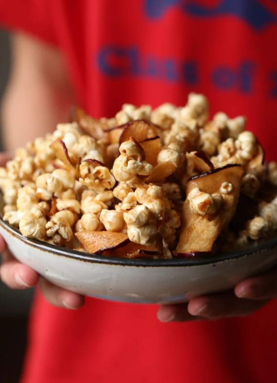 Caramel Apple Popcorn! Salty/Sweet perfection with a foolproof recipe!