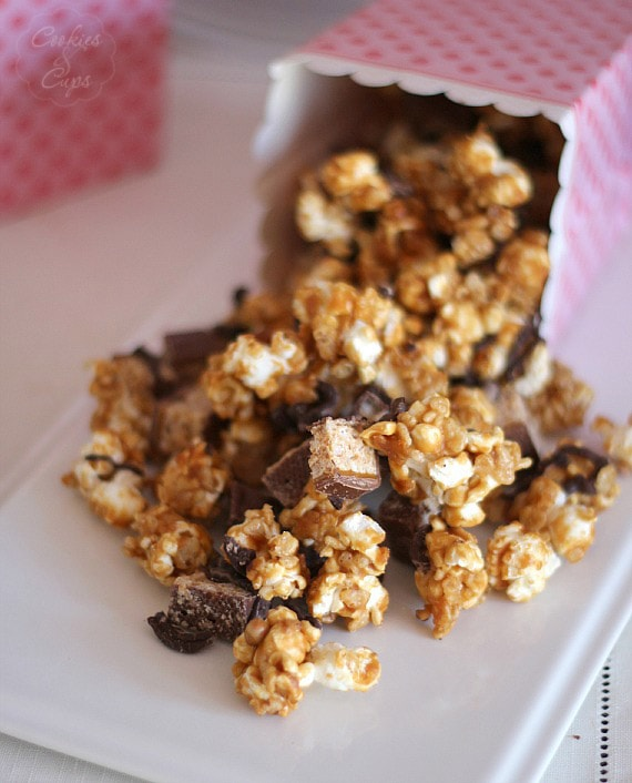 Whatchamacallit Popcorn   Cookies and Cups