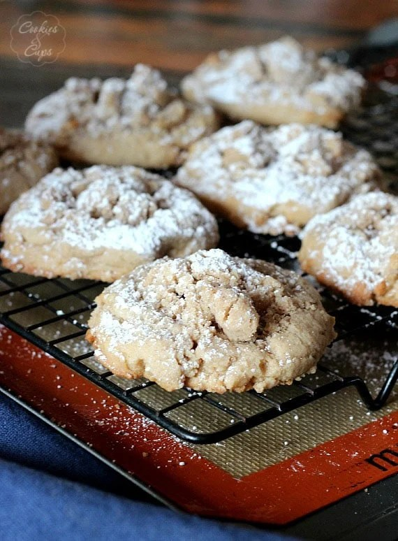 Coffee Cake Cookies   Cookies and Cups