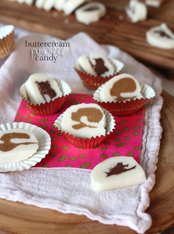 Buttercream Pinwheel Candy   www.cookiesandcups.com