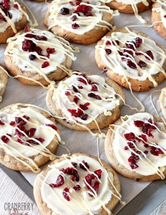 Cranberry Bliss Cookies   www.cookiesandcups.com