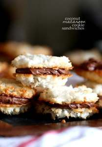 Coconut Macaroon Cookie Sandwiches Cookies And Cups