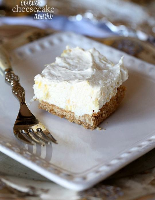 Potluck Cheesecake Dessert...A creamy and fruity dessert that is SO easy and crazy good!