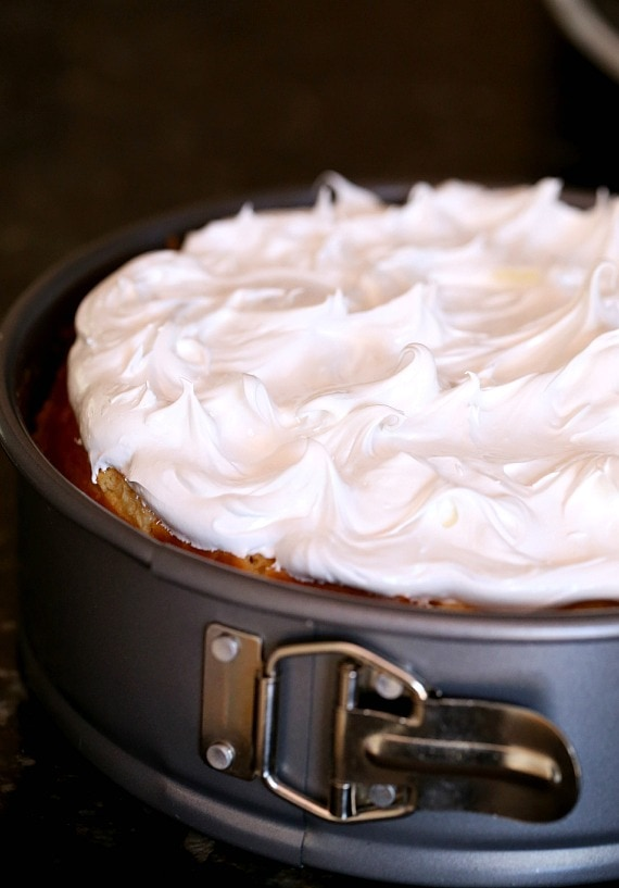 Fluffy Meringue ready to be torched!