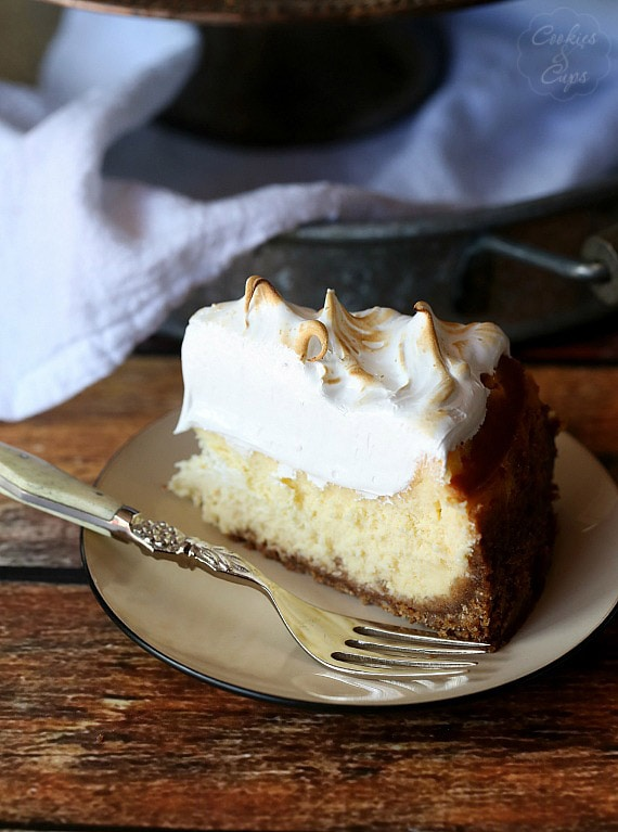 A Perfect Slice of Lemon Meringue Cheesecake