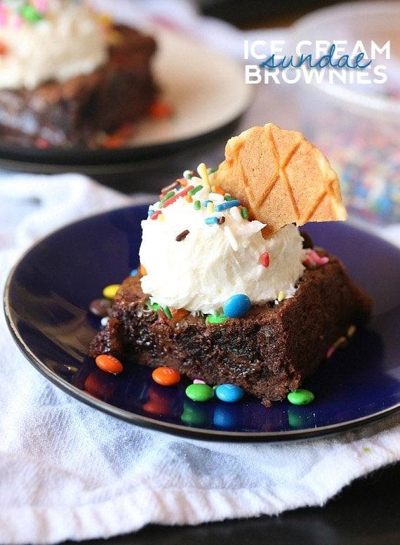 Ice Cream Sundae Brownies  Cookies and Cups