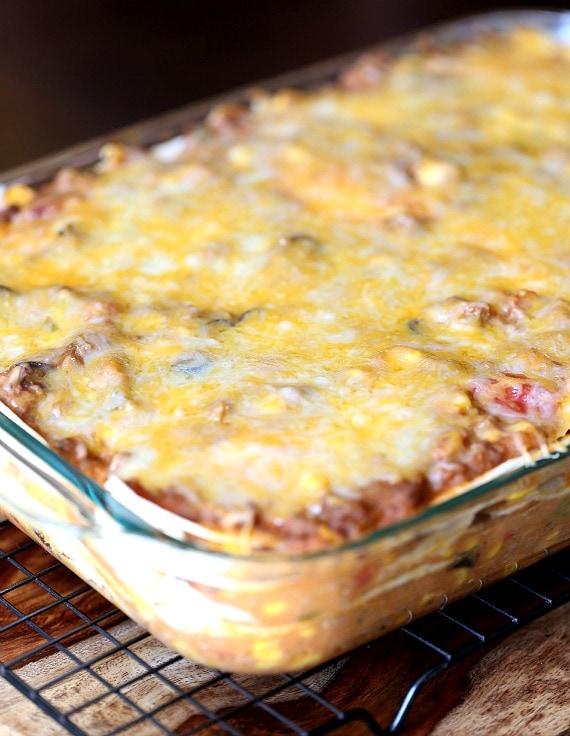 Burrito Lasagna Baked