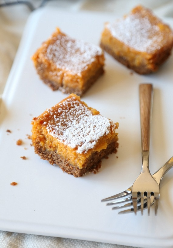 Pumpkin Gooey Butter Cake.. super easy and even better than pumpkin pie!!