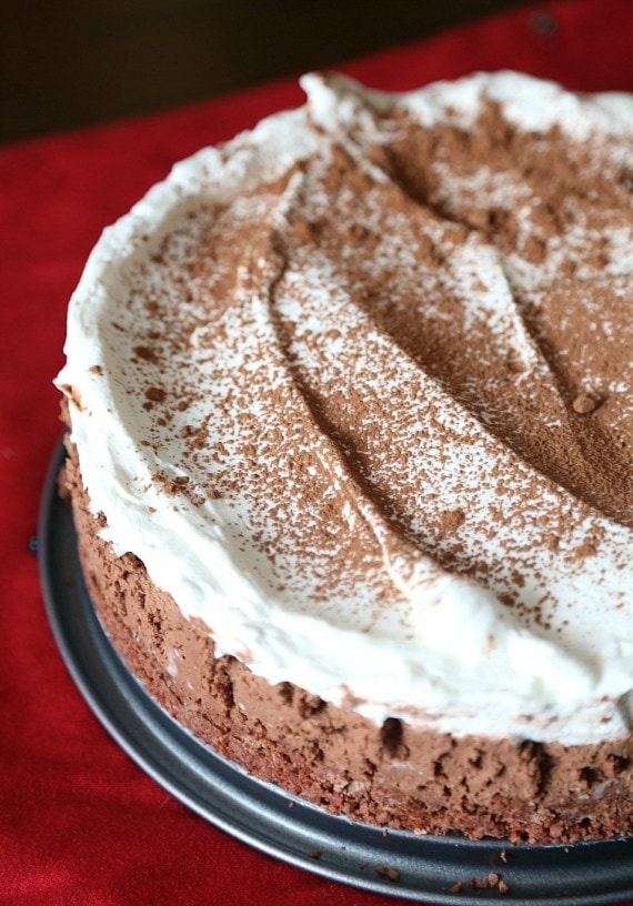 No Bake Sugar Wafer Chocolate Mousse Pie...a creamy dreamy pie with a deliciously sweet crust!