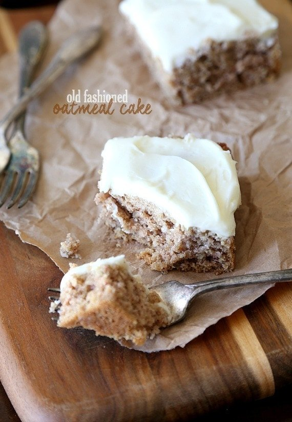 Old Fashioned Oatmeal Cake Cookies And Cups