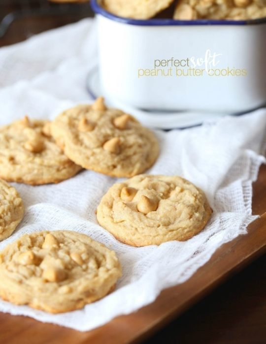 The Perfect Soft Peanut Butter Cookie...no criss cross necessary, these cookies melt in your mouth!