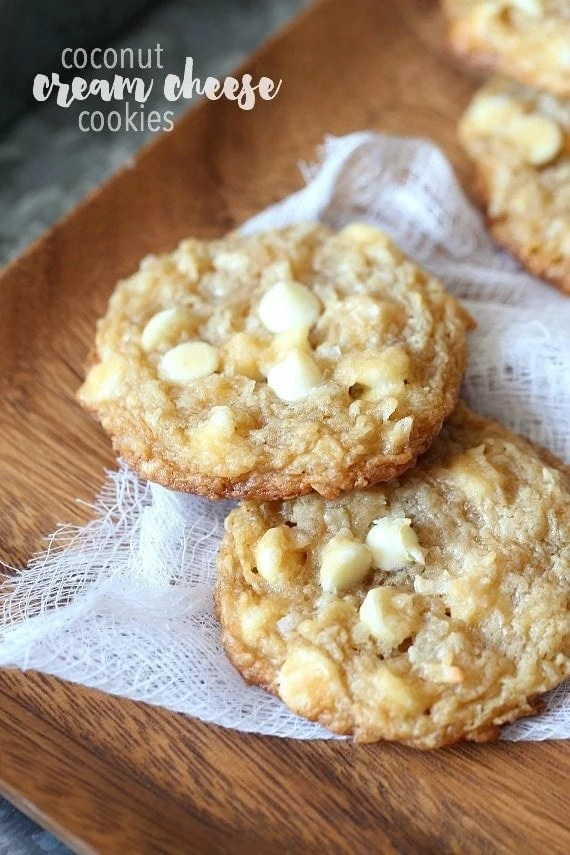 White Chocolate Coconut Cream Cheese Cookies Cookies And