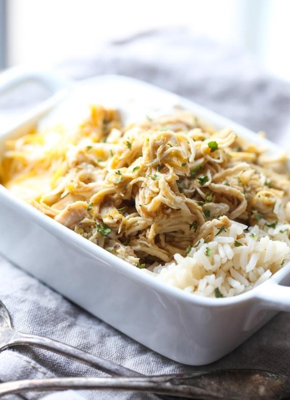 Salsa Verde Chicken over rice!