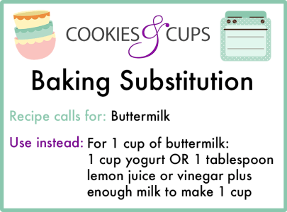 Buttermilk Substitution