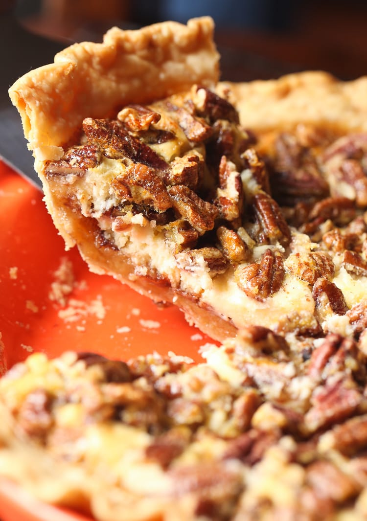 English Toffee Cheesecake Pecan Pie... it's 3 delicious desserts in one place!