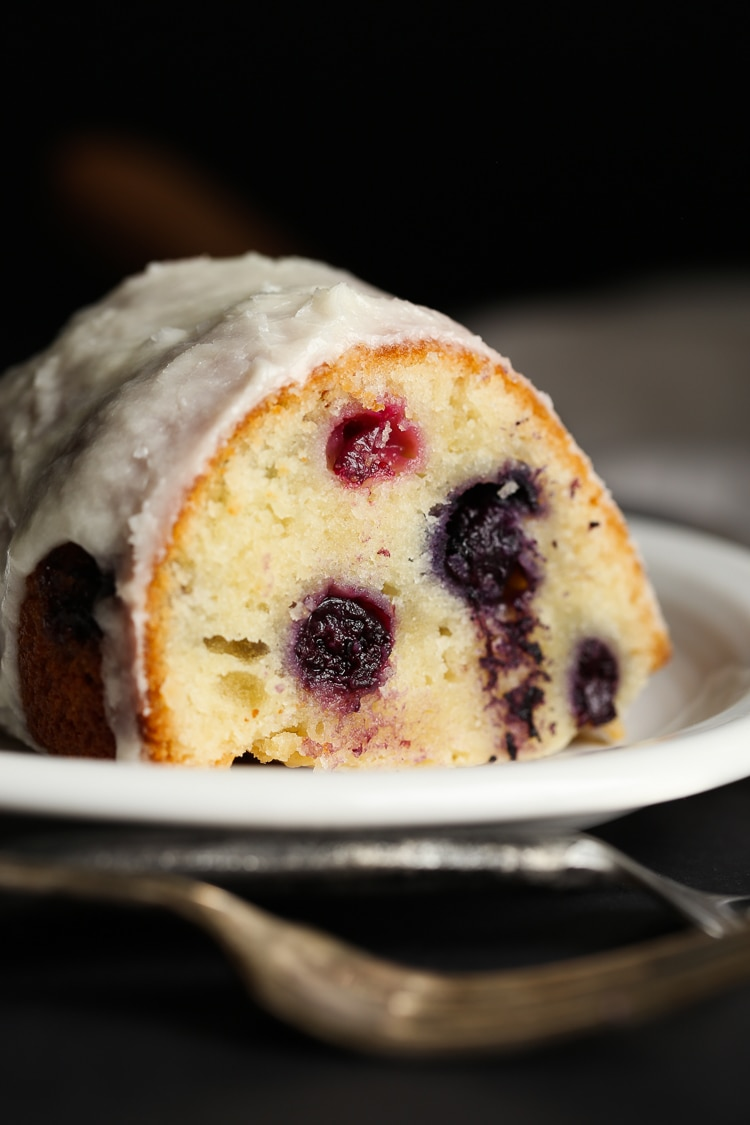Blueberry Sour Cream Cake Donuts
