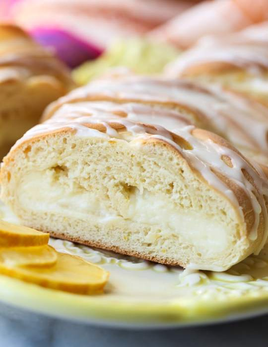 This Cream Cheese Lemon Braid is a sweet bread filled with creamy lemon cream cheese filling!