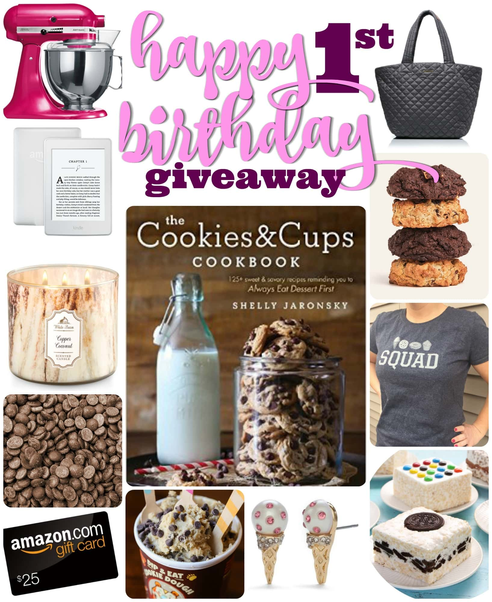Happy Birthday Cookies & Cups Cookbook!