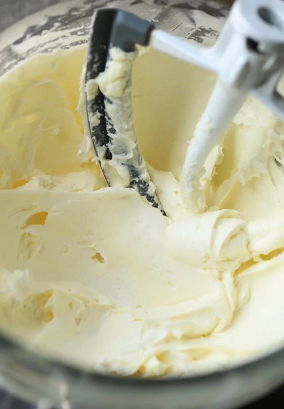 Heritage Frosting! This creamy, not-too-sweet frosting starts with a cooked flour and milk mixture! Such a great alternative to traditional buttercream!