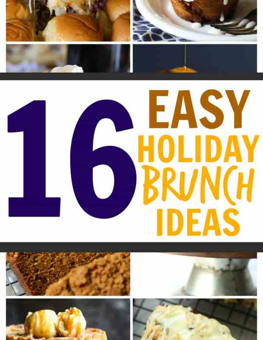 16 Easy Holiday Brunch Ideas